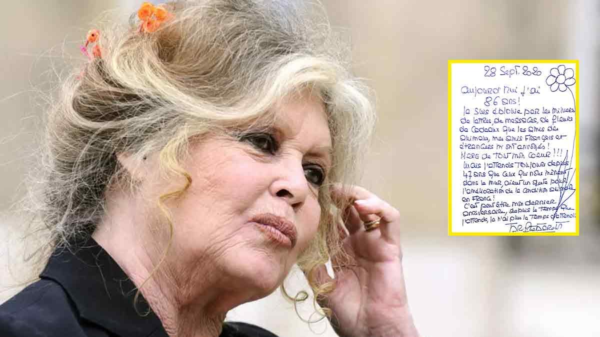 Brigitte Bardot mourante, elle publie son dernier message ? Révélations inédites !