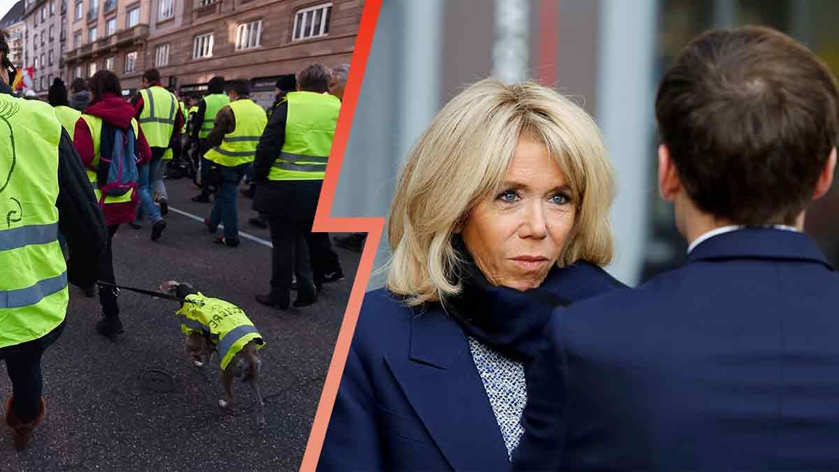 Brigitte Macron : c'est la guerre avec un gilet jaune ! Elle porte plainte !